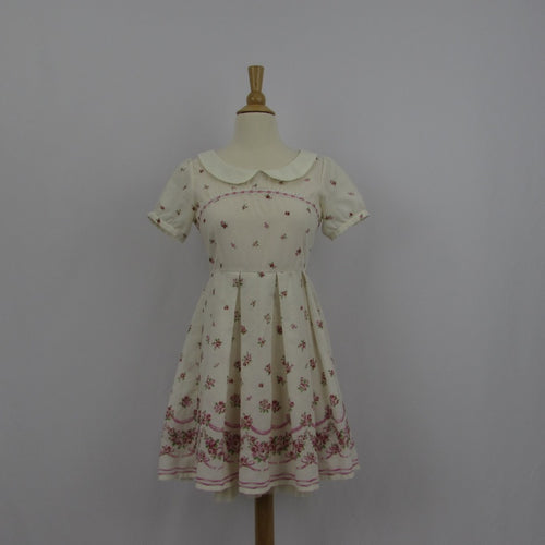 Ank Rouge Cream Floral Dress