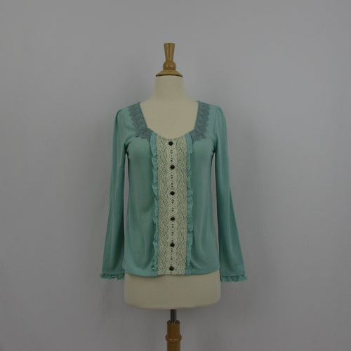 Axes Femme Mint and Cream Top