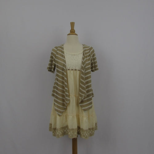 Axes Femme Cream Casual Dress