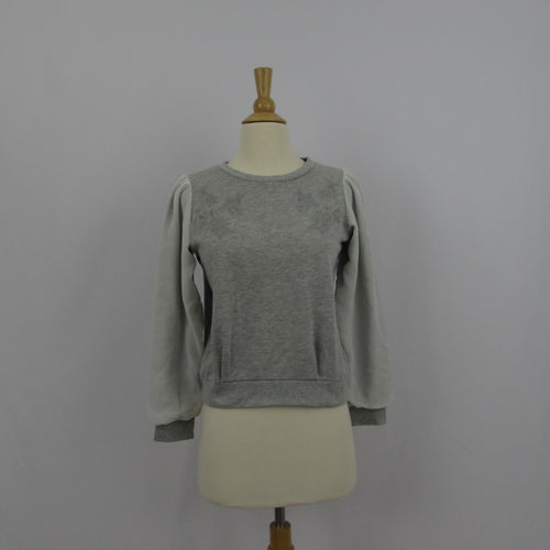 Majestic Legon Grey Floral Sweatshirt