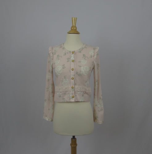 Liz Lisa Pastel Rose Cardigan - Cherry Cordial