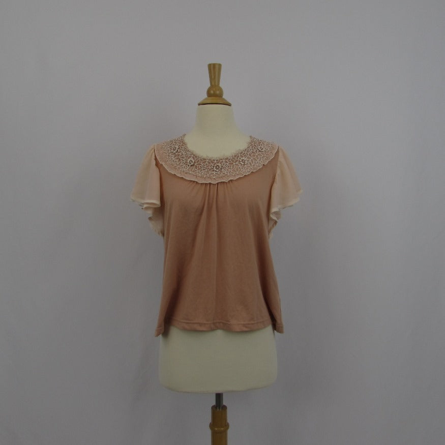 Axes Femme Dusty Blush Swing Top