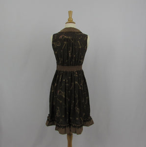 Axes Femme Gold Keys Dress