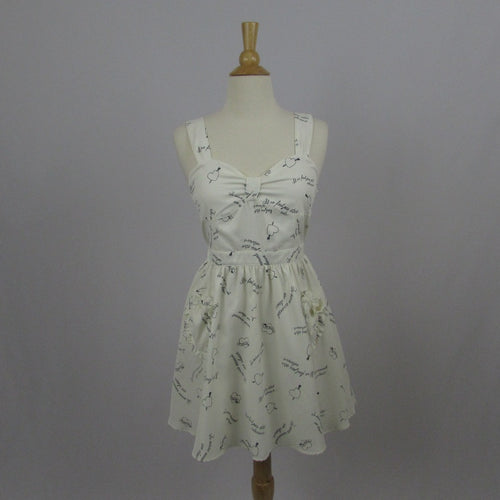 Ank Rouge Ivory Hearts  Dress - Cherry Cordial