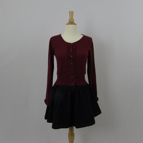 Ank Rouge Burgundy Cardigan - Cherry Cordial
