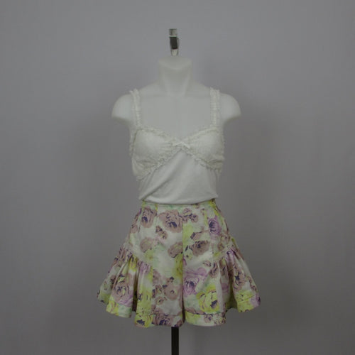 Liz Lisa Yellow and Purple Floral Shorts - Cherry Cordial