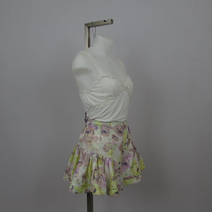 Liz Lisa Yellow and Purple Floral Shorts