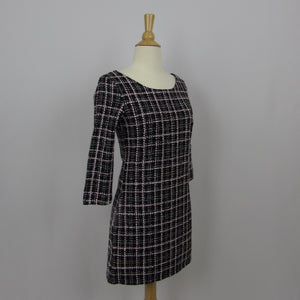 Julia Boutique Black and Pink Plaid Dress NWT - Cherry Cordial