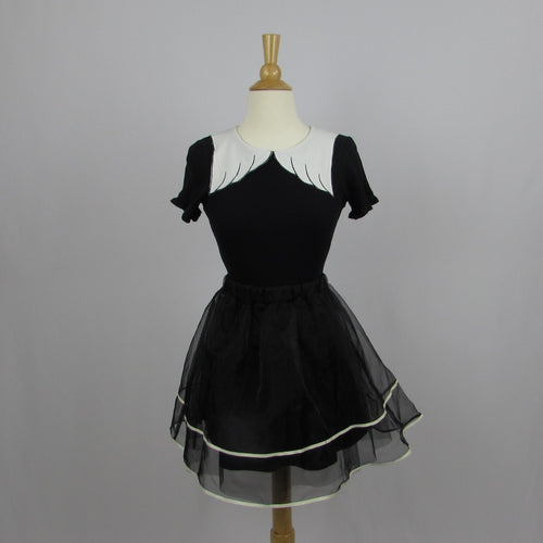 An Another Angelus Black Organza Party Skirt - Cherry Cordial