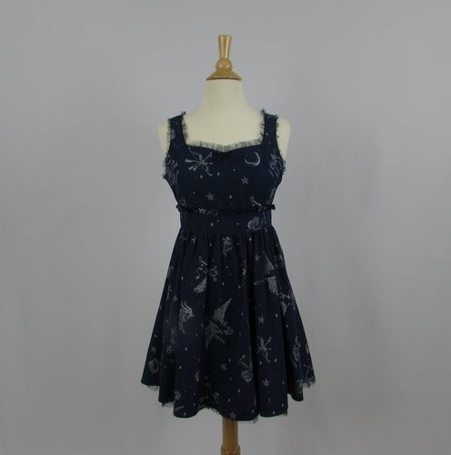 Ank Rouge Navy Astrology Dress