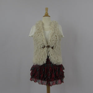 Ank Rouge Faux Fur Vest - Cherry Cordial