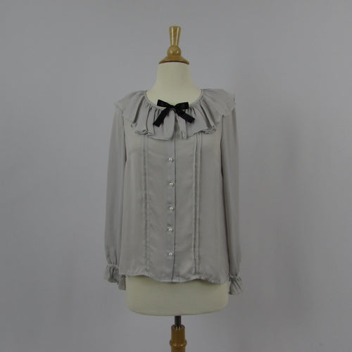 Ank Rouge Silky Grey Blouse