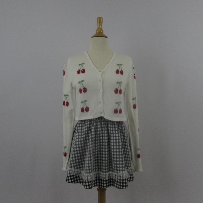 Katie Cherry Cardigan