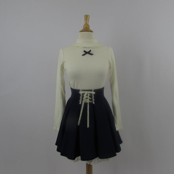 Ank Rouge Navy & Cream Skirt