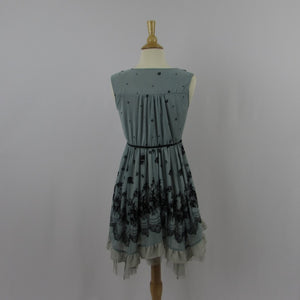 Axes Femme Teal Roses Dress
