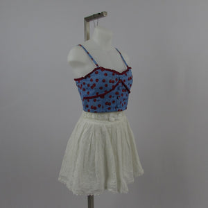 Swankis Cherry Crop Top NWT