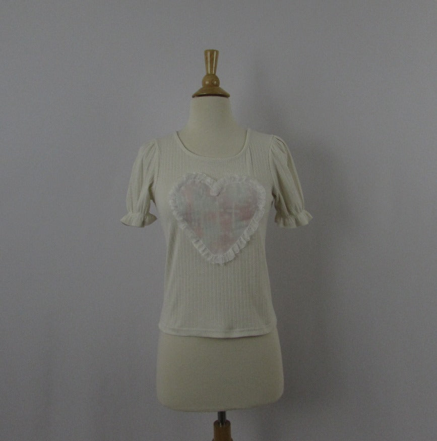 Ank Rouge Hearts & Crosses Knit Top