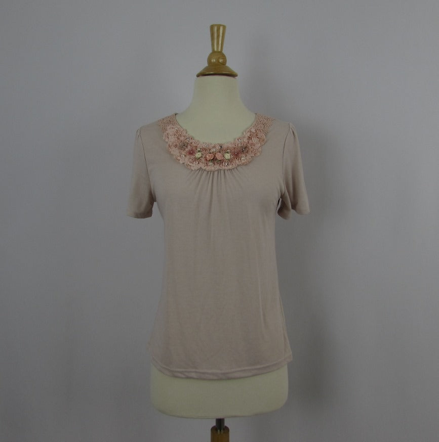 Axes Femme Dusty Pink Knit Top