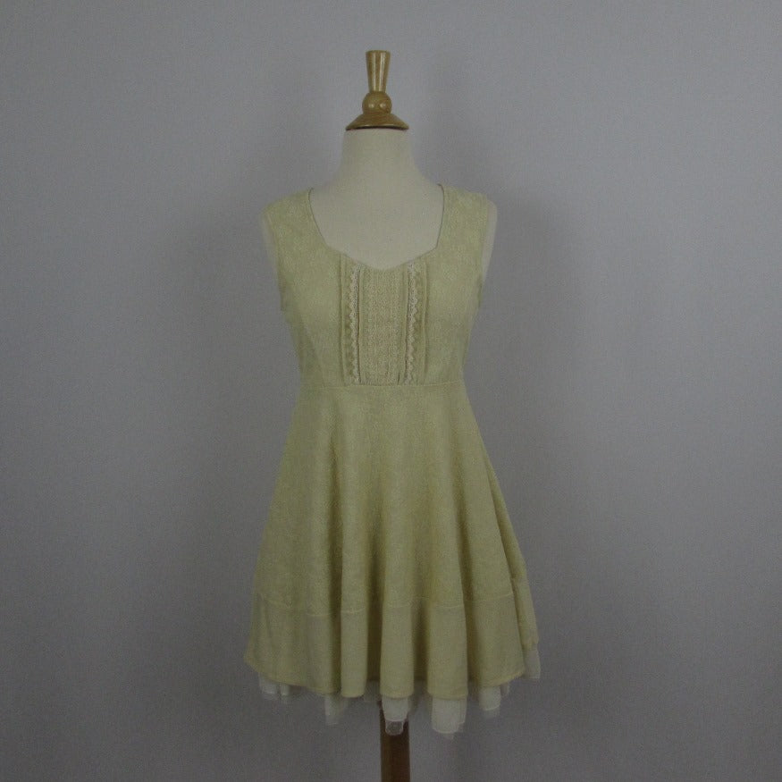 Axes Femme Cream Lace Dress