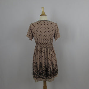 Axes Femme Dusty Pink Dot Dress