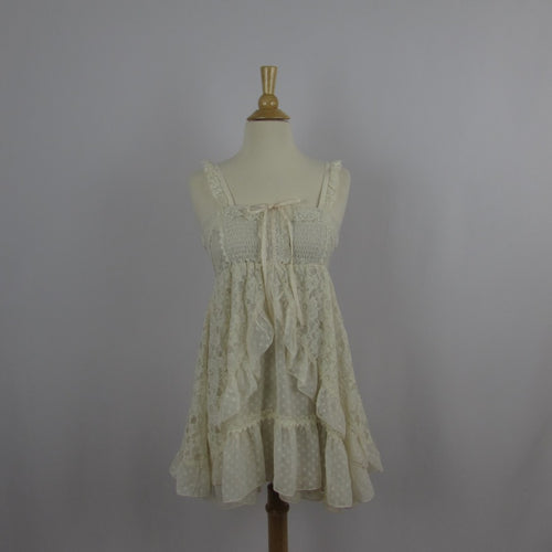 Axes Femme Cream Lace Baby Doll Dress