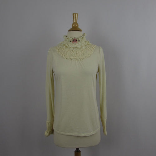 Axes Femme Ivory Knit Top