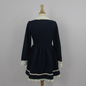 Deary Navy Dolly Dress Size L NWT