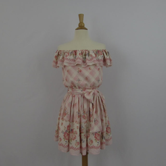 Liz Lisa Pink Gingham & Roses Dress