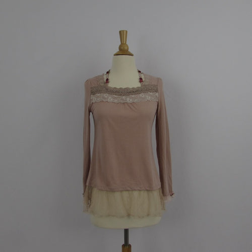 Axes Femme Dusty Pink Princess Style Top