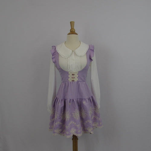 Liz Lisa Lavender Embroidered Jumper Skirt NWT