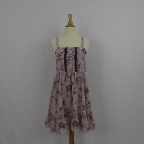 Axes Femme Antique Kitty Print Summer Dress