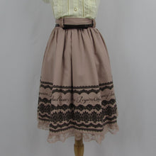 Axes Femme Dusty Pink Lace Print Skirt