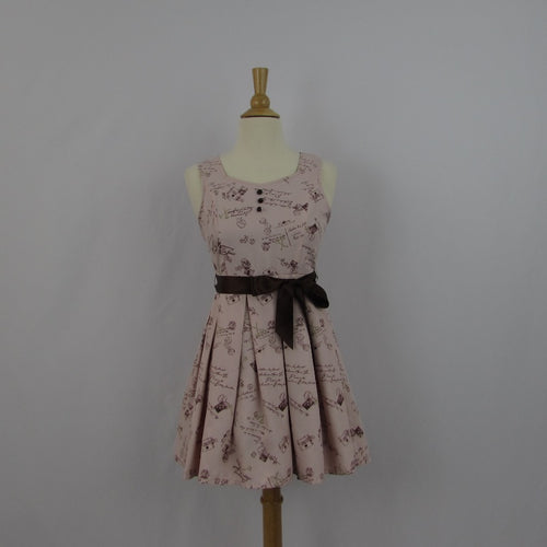 Ank Rouge Dusty Pink Postage Dress