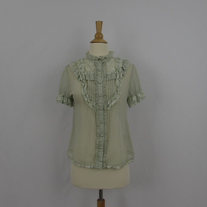 Axes Femme Light Green Blouse