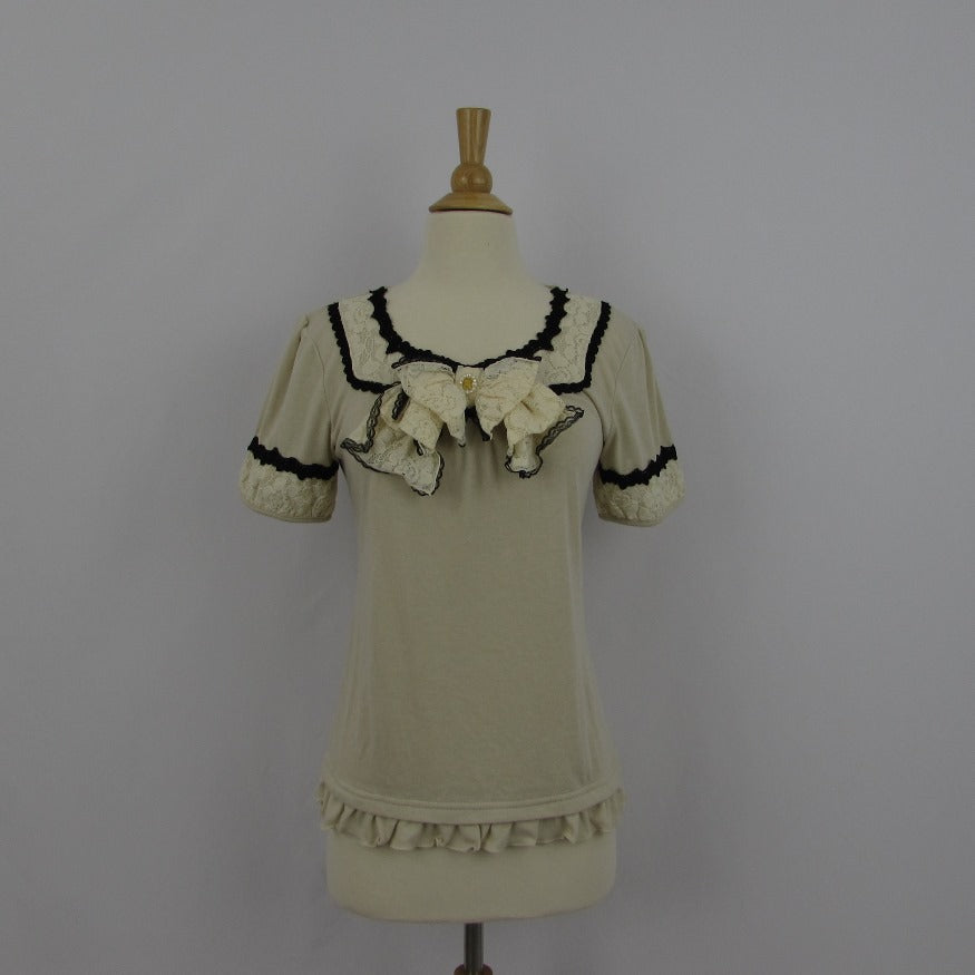Axes Femme Cream Princess Knit Top