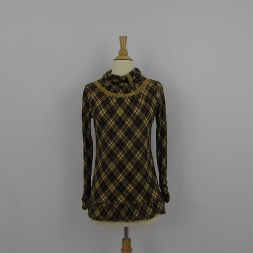 Axes Femme Plaid Knit Top