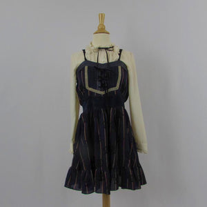 Axes Femme Navy Striped Dress NWT