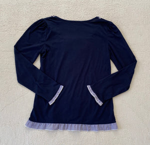 Axes Femme Blue Bow Knit Top