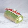 Matcha Red Bean Swiss Roll
