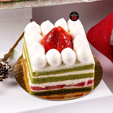 Matcha Strawberry Shortcake
