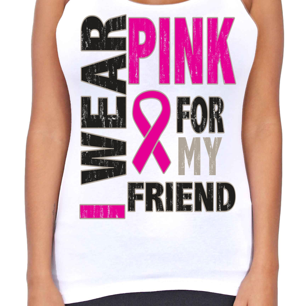 Dri Fit I Wear Pink For My Friend T-Back Tank Top - Edward Coy
