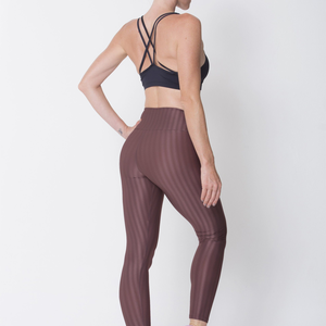 Brown 3D Disco Leggings - Edward Coy