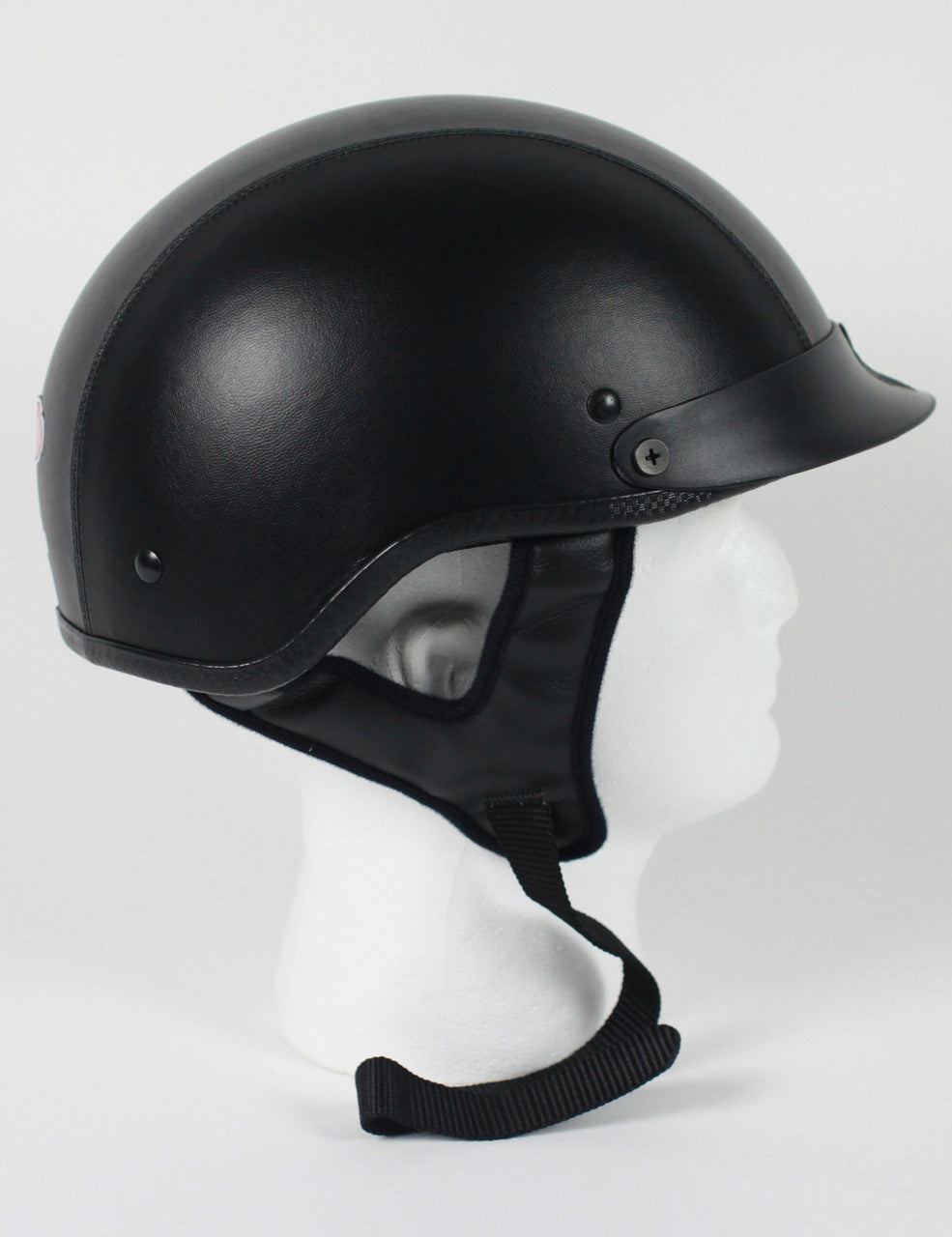 DOT Leather Shorty Motorcycle Helmet - Edward Coy