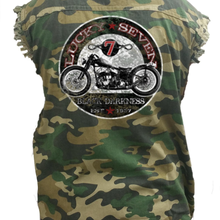 Men's Camo Lucky Seven Sleeveless Denim Shirt