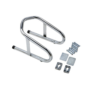 Pit Posse Chrome Removable Wheel Chock 6 1/2 Inch