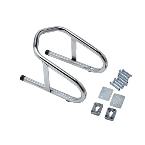 Pit Posse Chrome Removable Wheel Chock 6 1/2 Inch - Edward Coy