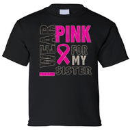 Kids I Wear Pink For My Sister Short Sleeve T-Shirt - Edward Coy