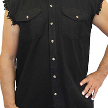 Men's Shut Up & Ride Sleeveless Denim Shirt - Edward Coy