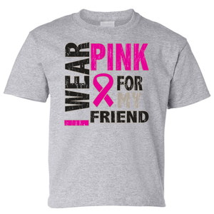Kids I Wear Pink For My Friend Short Sleeve T-Shirt - Edward Coy