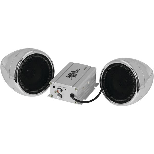 BOSS Audio Systems 600-Watt Motorcycle/All-Terrain Speaker & Amp System (Without Bluetooth) - Edward Coy